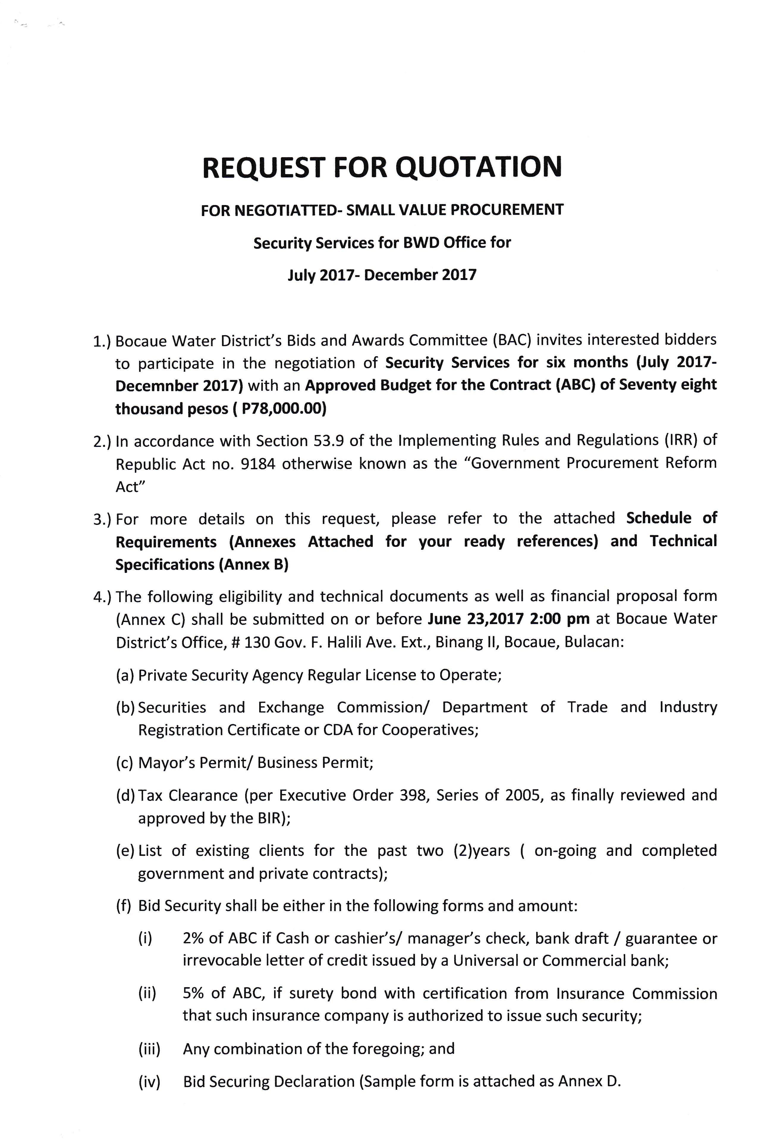 Invitation to bid bocaue water district invitation to bid stopboris Choice Image